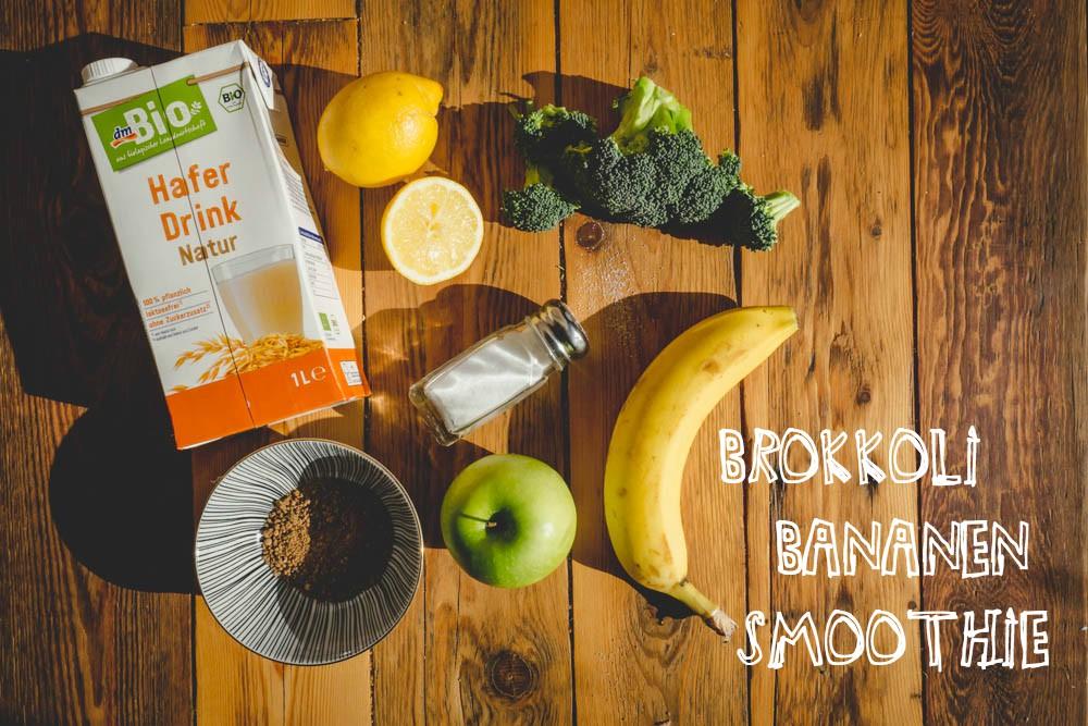 Zutaten für Brokkoli-Bananen-Smoothie