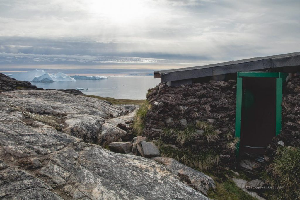 Hütte am Ilulissat Eisfjord