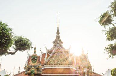 Tempeldach in Bangkok, Thailand