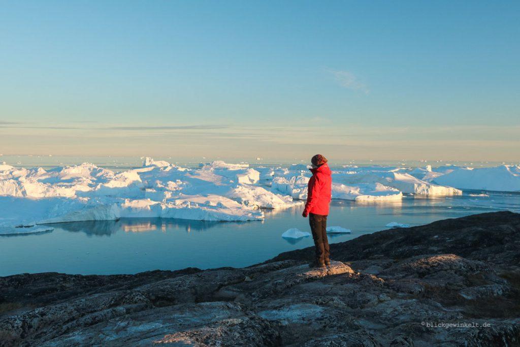 Mitternachtssonne am Eisfjord in Grönland
