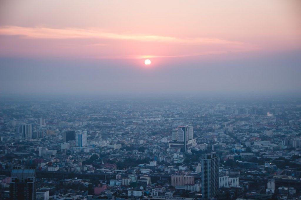 Ausblick vom Bayoke Sky Hotel Bangkok