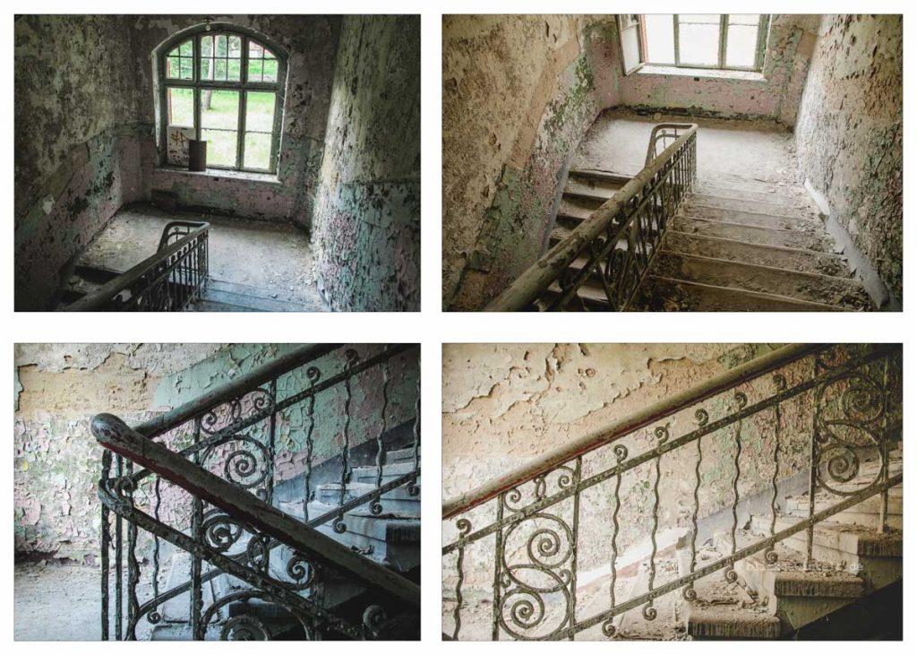 Fotovergleich Beelitz Männersanatorium 2012 und 2017