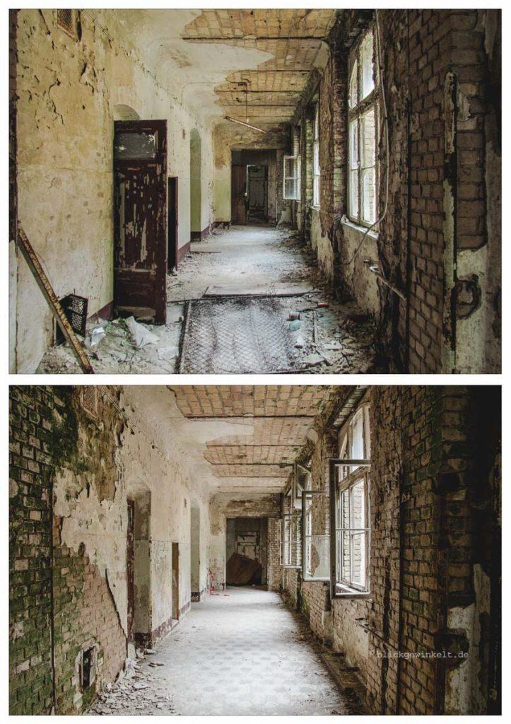 Fotovergleich Abrissreifes Gebäude