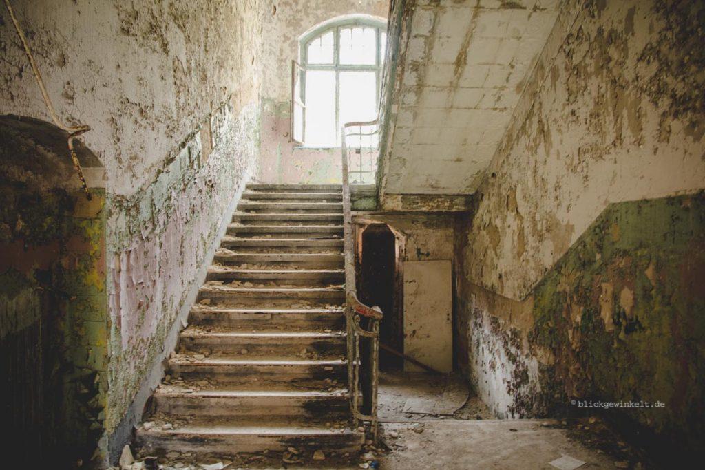 Treppenhaus in Beelitz-Heilstätten Männersanatorium