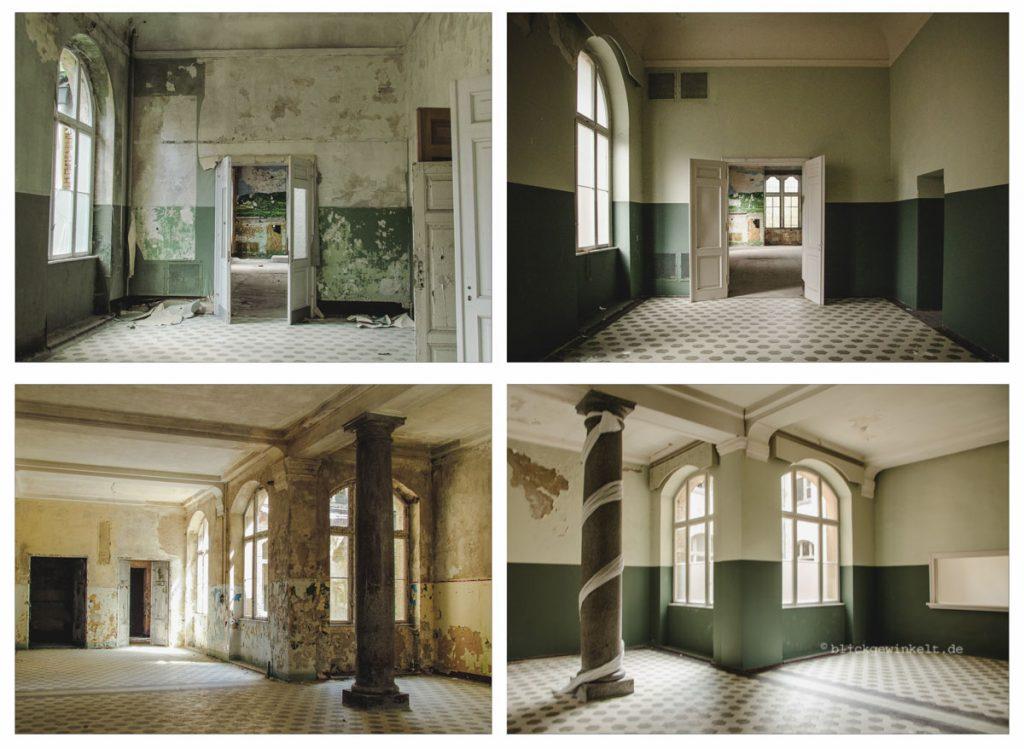 AlDas Männersanatorium Beelitz-Heilstätten vor- und nach der Renovierung