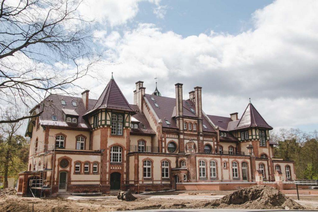 Neu restauriertes Gebäude in Beelitz-Heilstätten.