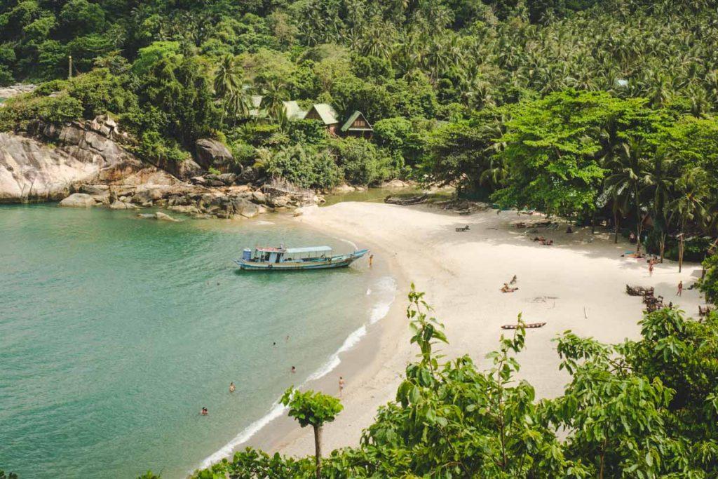 Haad Sadet Beach: Palmen und türkises Wasser