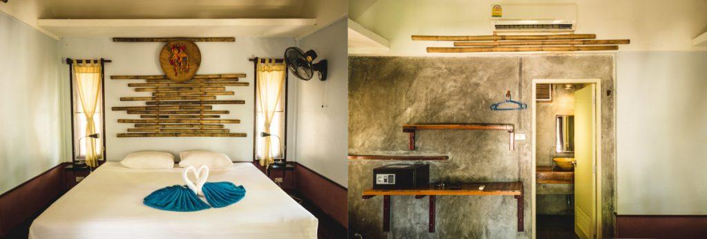 Innenansicht eines Bungalows im Thongtapan Resort