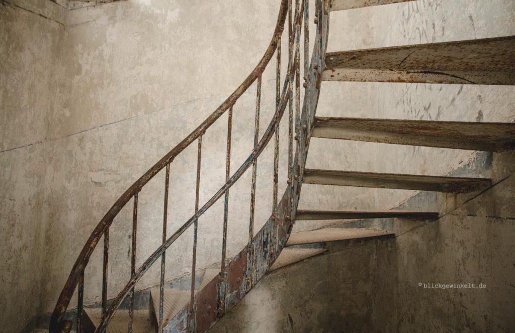 Treppe in Beelitz-Heilstätten Männersanatorium