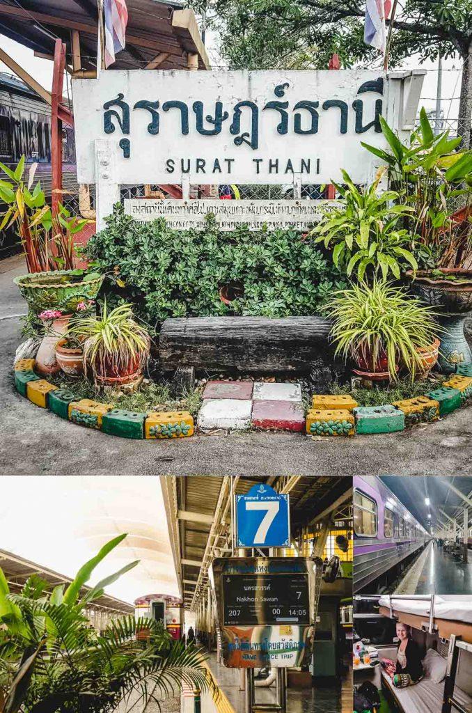 Zugfahren in Thailand