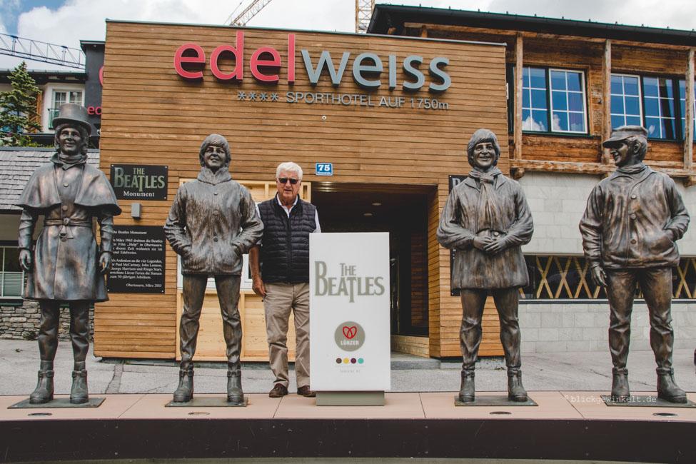 Beatles-Skulptur in Obertauern