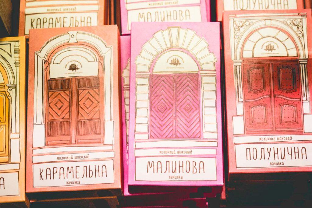 Handgemachte Schokolade in Lemberg, Lviv