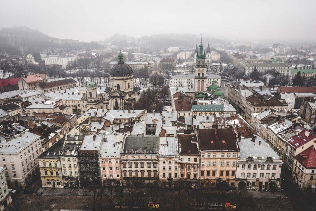 Ausblick auf Lviv/Lemberg vom Rathausturm