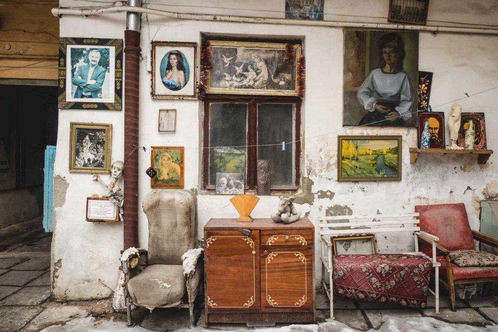 Sowjetische Artefakte in Lviv