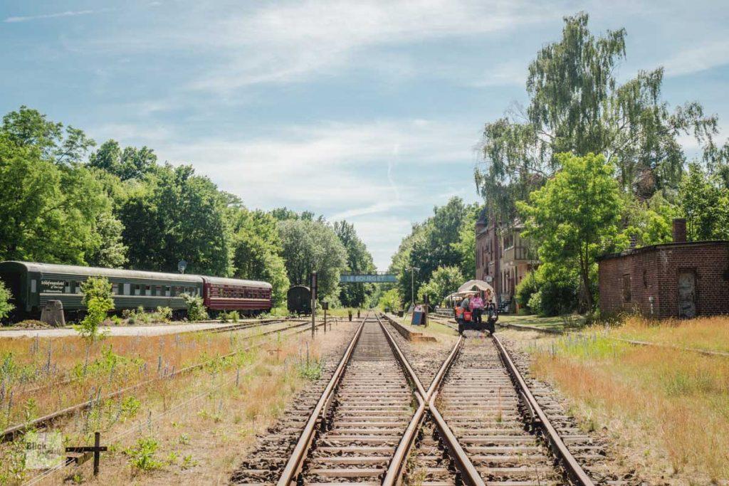 Der Bahnhof Rehagen in Brandenburg