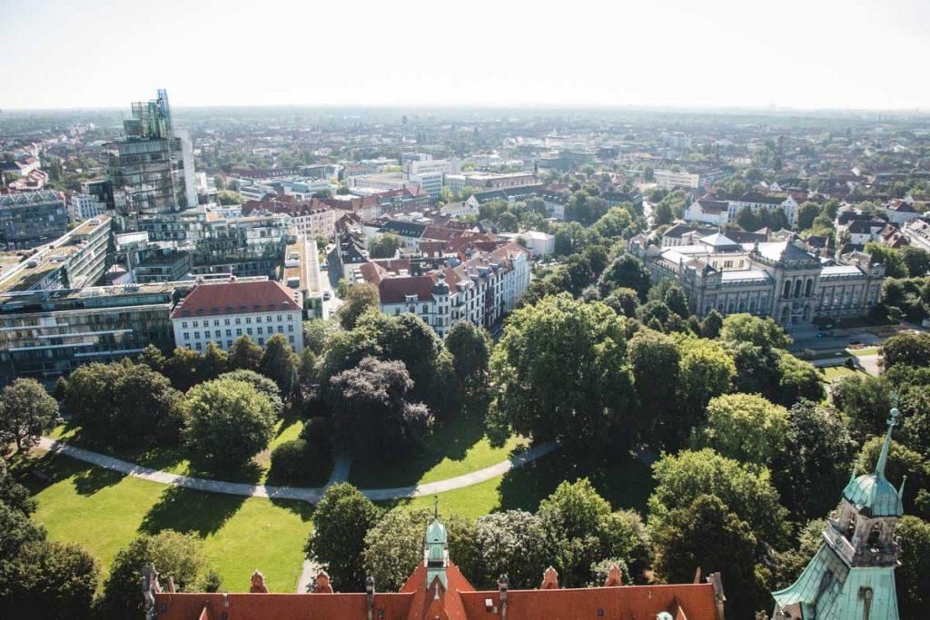 Aussicht neues Rathaus Hannover