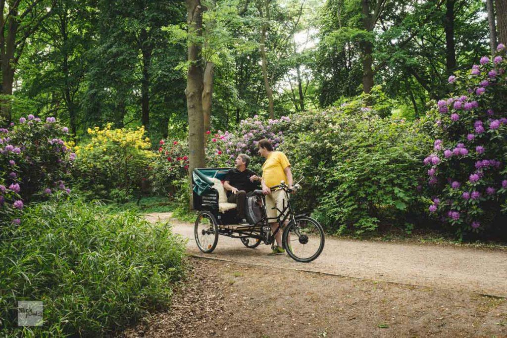 Rikscha im Berliner Tiergarten