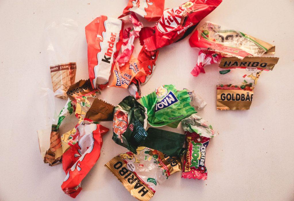 Plastikmüll Süßigkeiten