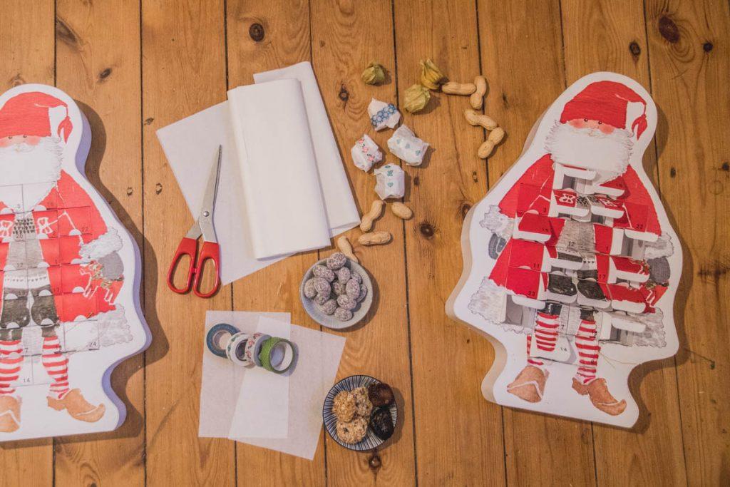 Adventskalender-Weihnachtsmänner zum selber Befüllen