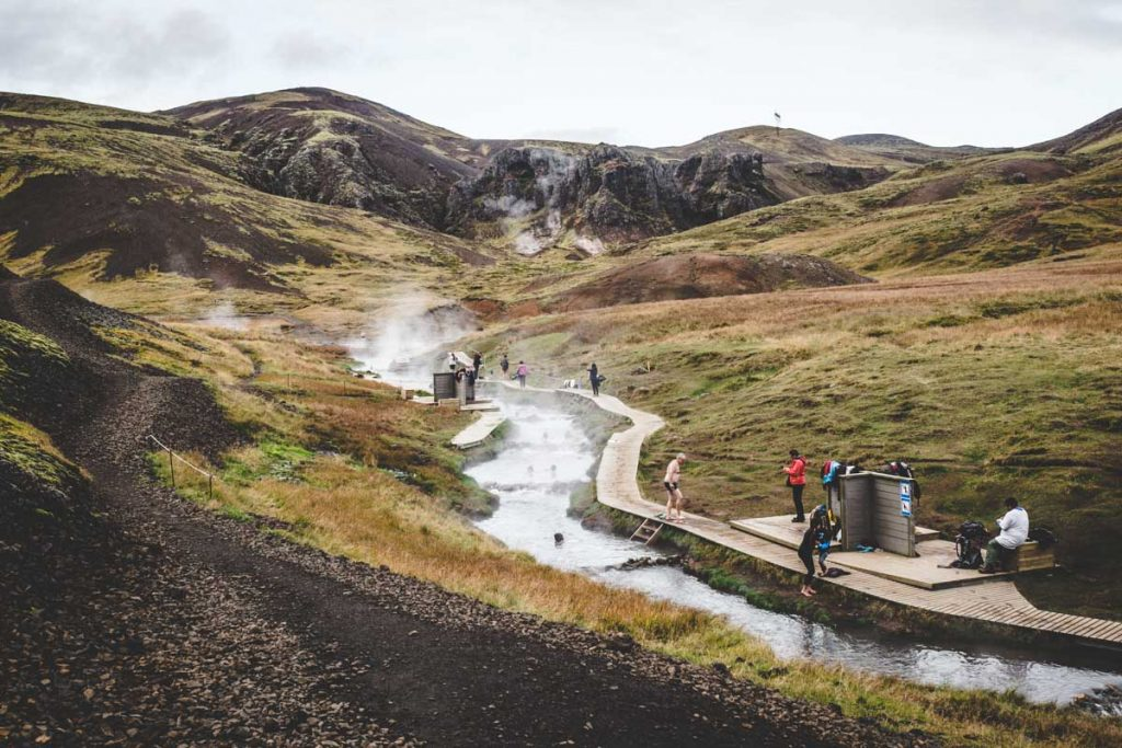 Reykjadalur - heißer Fluss in Island