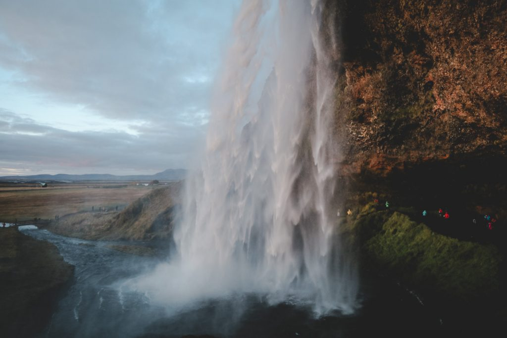 Wasserfall Seljalandsfoss - ein Highlight in Island