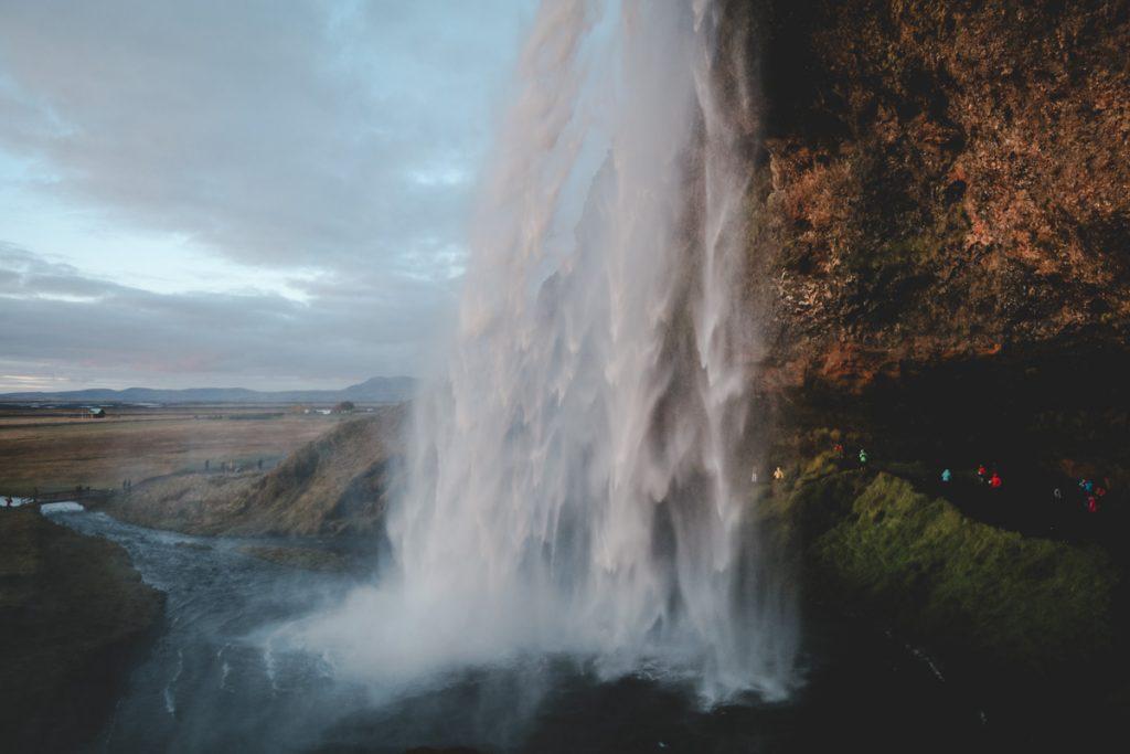 Wasserfall Seljalandsfoss - ein Highlight in Island