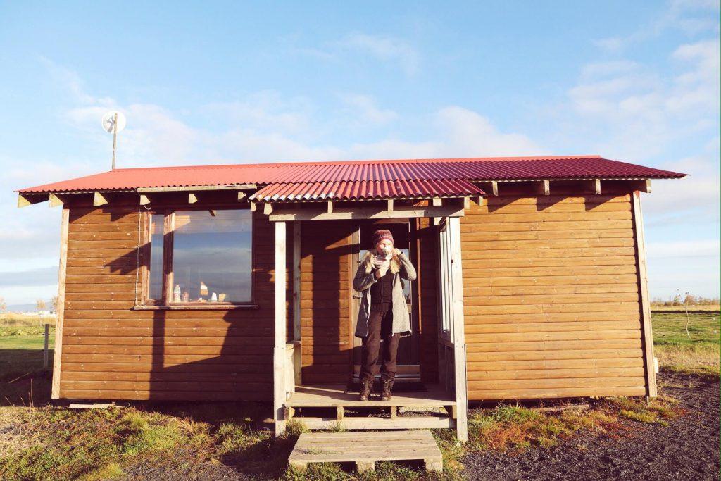 Holzhütte in Island