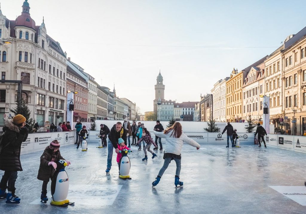 Eislaufbahn in der Görlitzer Altstadt