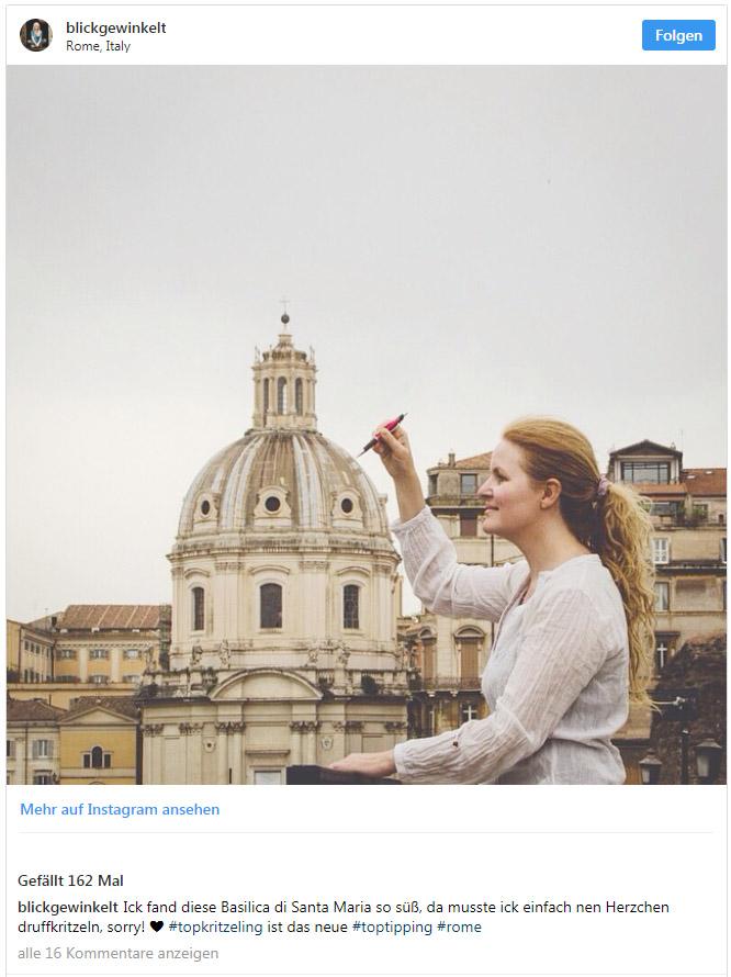 Instagram-blickgewinkelt