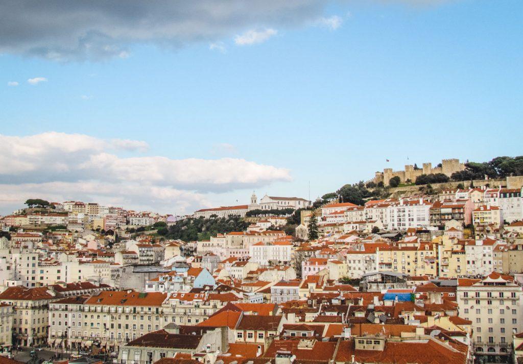 Stadtansicht auf Lissabon