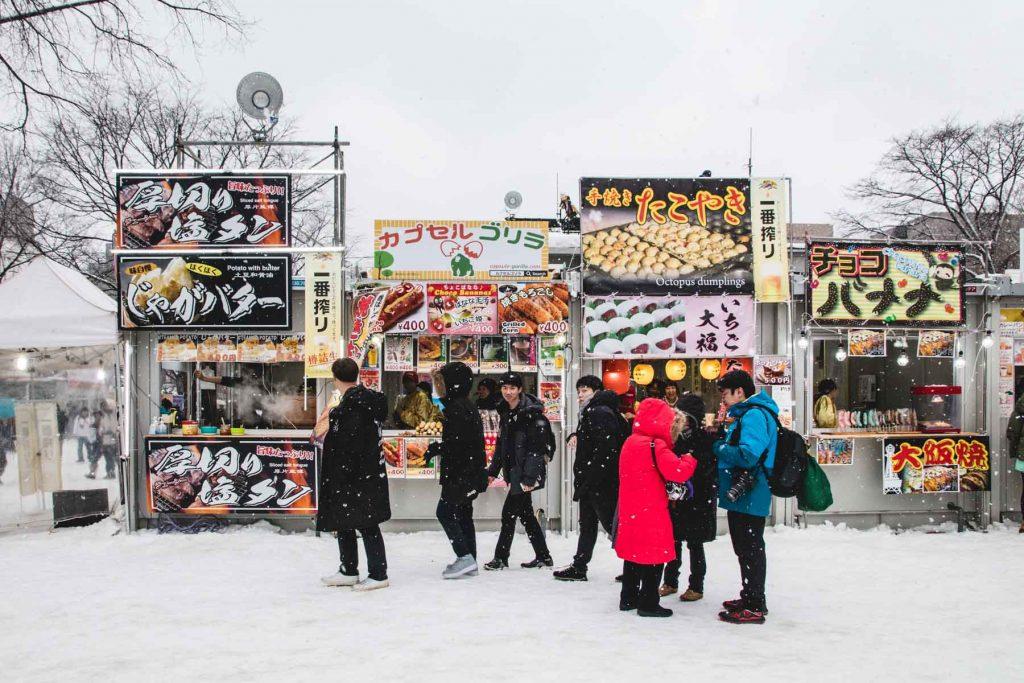 Straßenstände in Sapporo