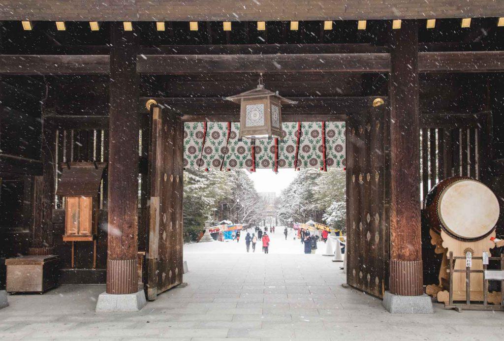 Hokkaido Schrein Eingangstor