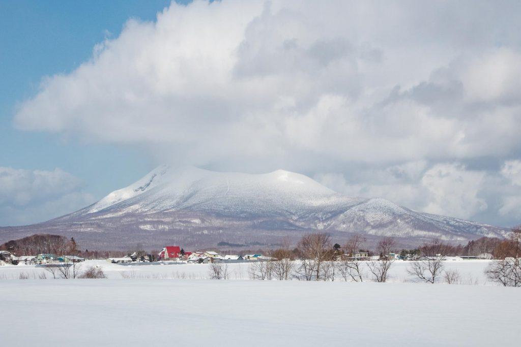 Vulkan Komagatake auf Hokkaido
