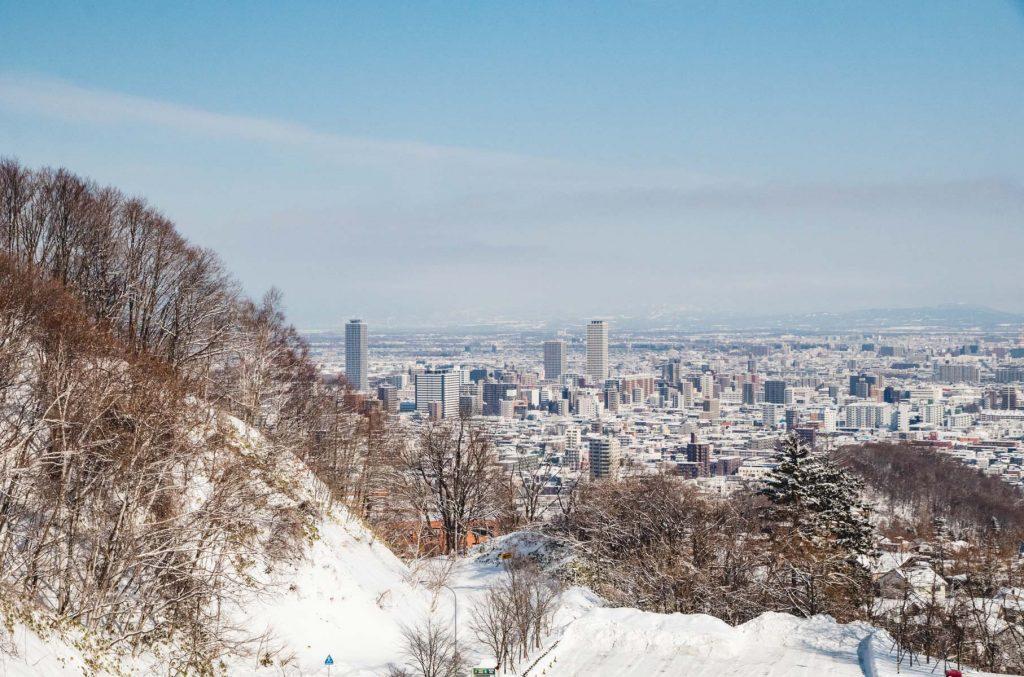 Sapporo-Ansicht vom Berg