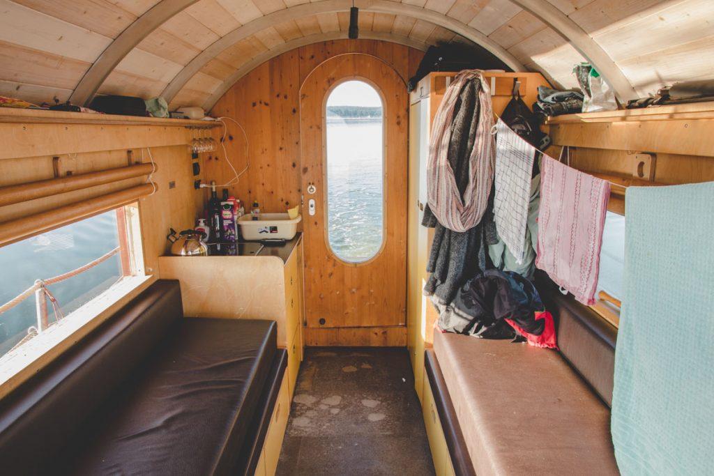 Hausboot Havelfloß Innenansicht