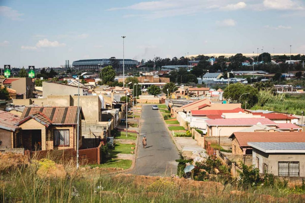 Straße in Soweto