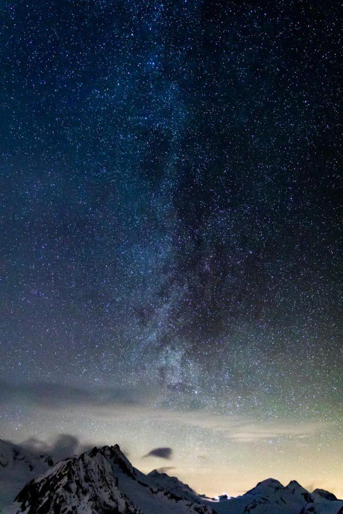 Milchstraße über dem Eggishorn