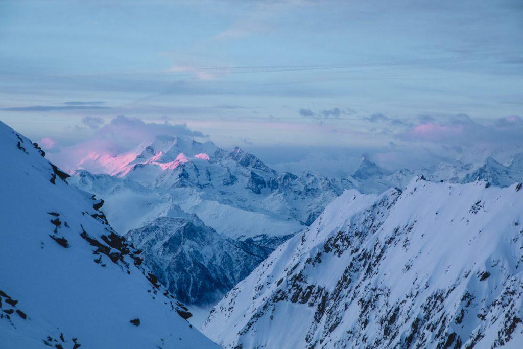 Sonnenaufgang-Aletscharena