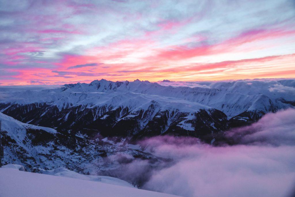Sonnenaufgang Aletsch-Region