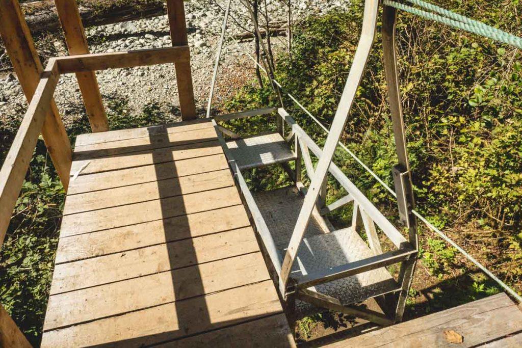 Einfache Seilbahn-Kabine in Kanada