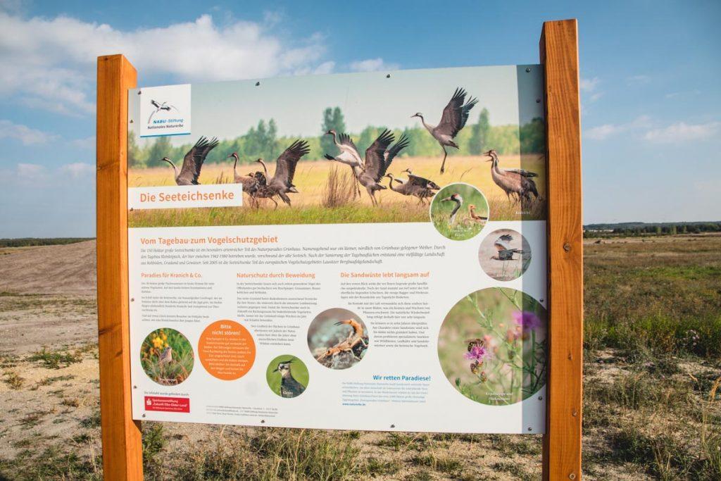 Schild über Flora und Faune