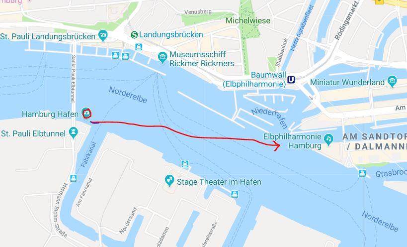 Elbphilharmonie mit Mond - Standort zum Fotografieren