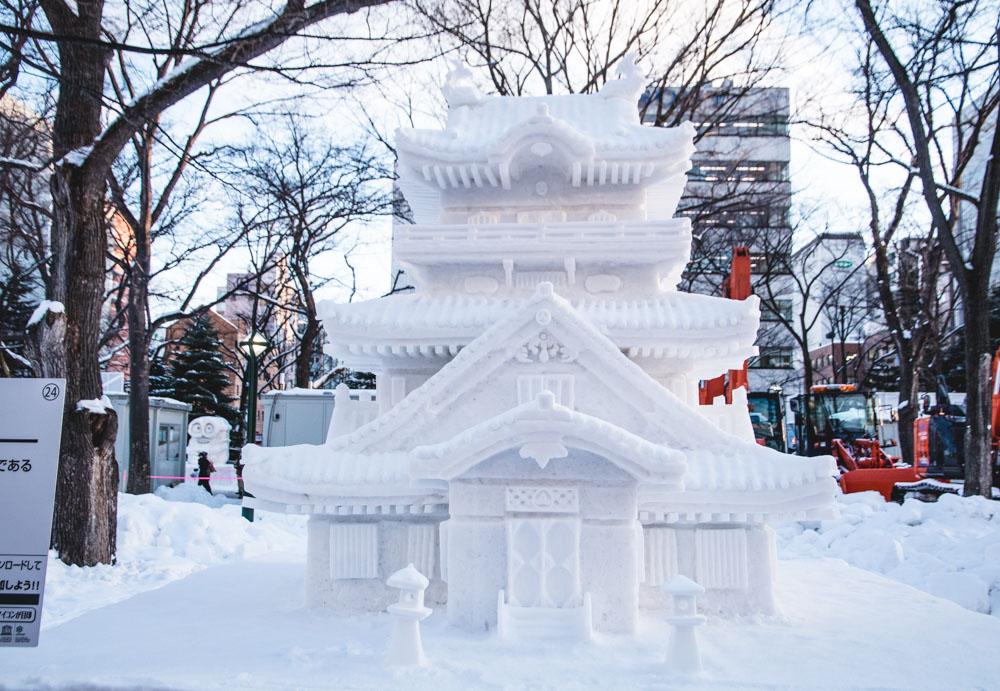 Schneepalast Sapporo Schneefestival