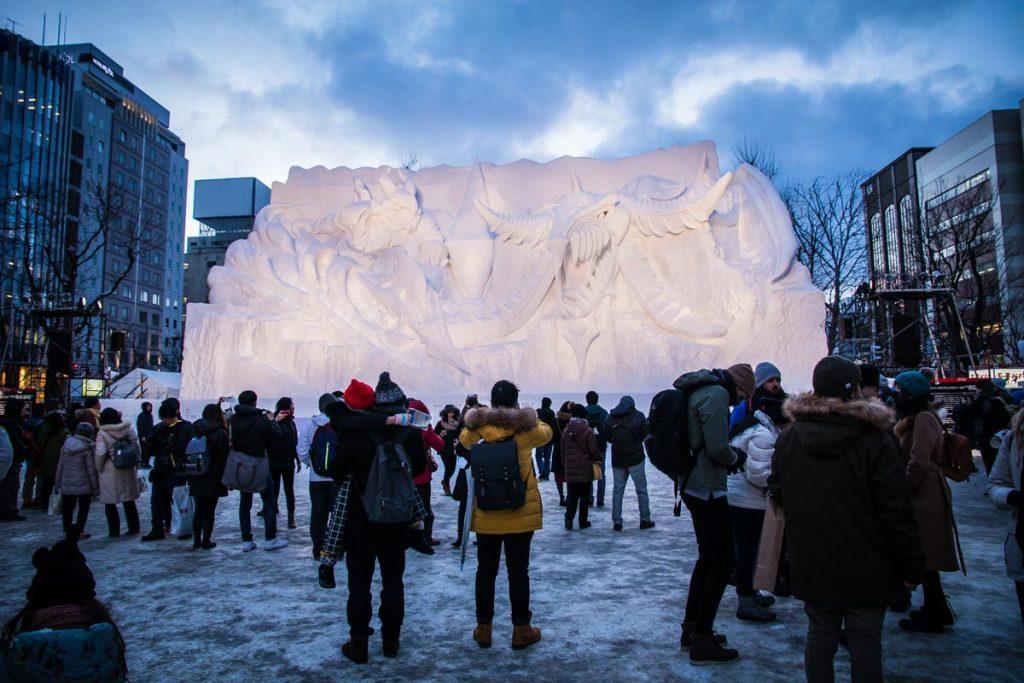Sapporo Schneefestival Schneedrache