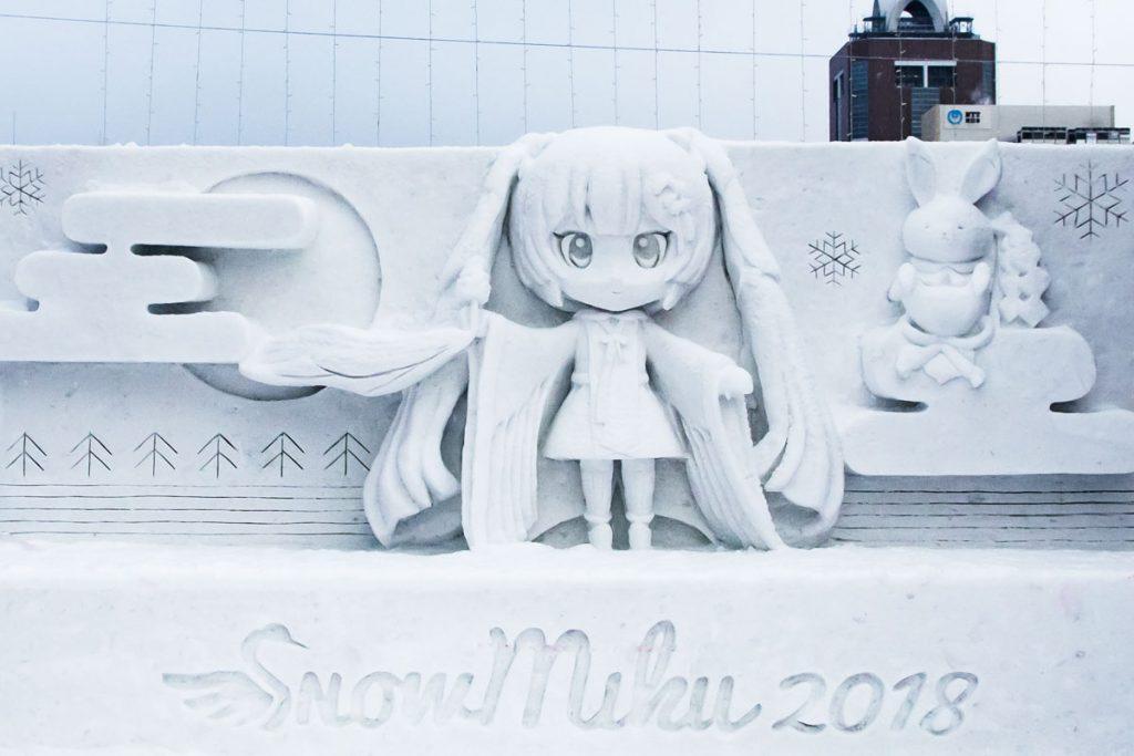 Miku Hatsune Schneefigur Japan
