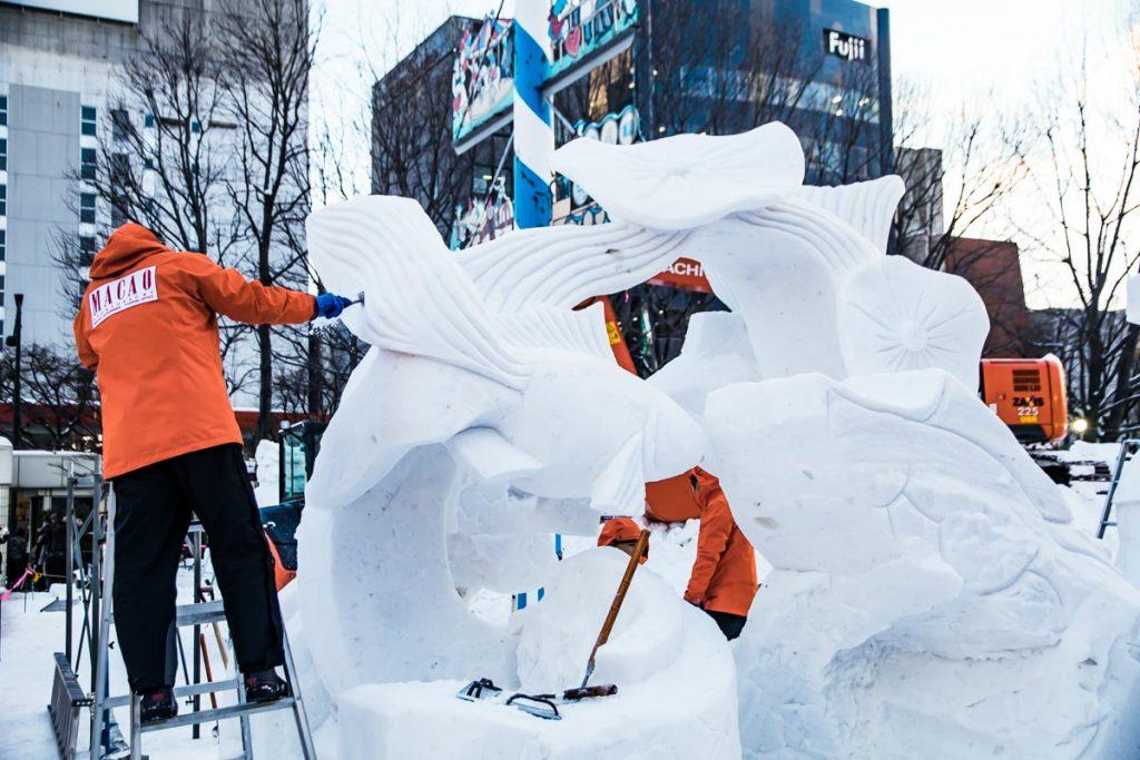 Schneeskuplturenwettbewerb