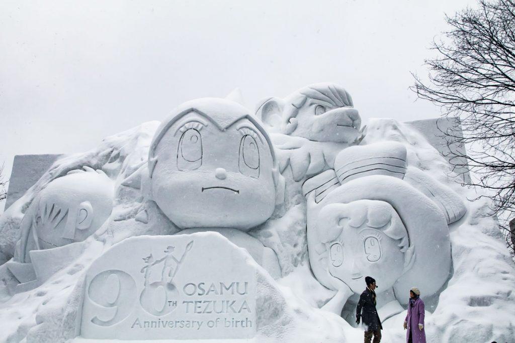 Schneeskulptur Schneefestival Japan