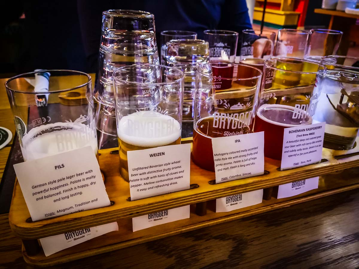 Biertasting in der Bryggeri