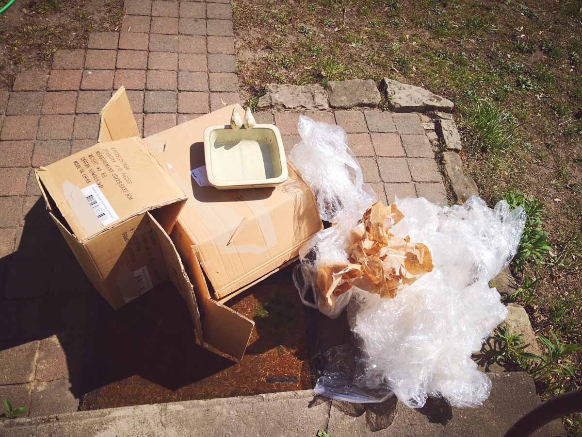 OBI-Verpackungsmüll