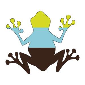 Frosch gezeichnet